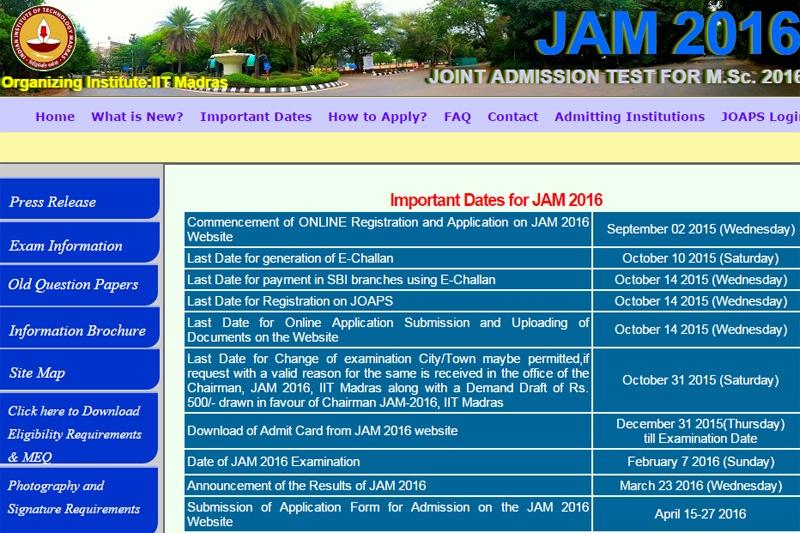 JAM2016results