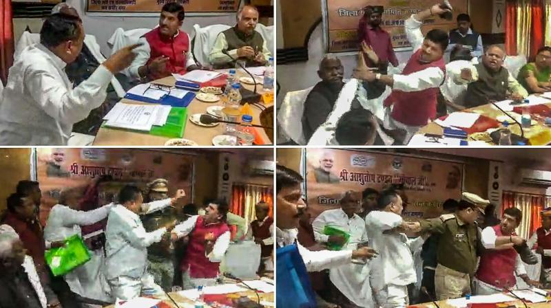 BJP-MP-shoe-fight